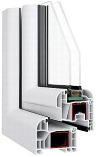 Kunststofffenster dreh kipp links breite 050 075 afg for Kunststofffenster rund